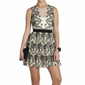 NWT BCBG Max Azria Collier Scalloped Lace Dress